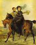 Karl Brulloff Portrait of K. A. and M. Ya. Narishkin.