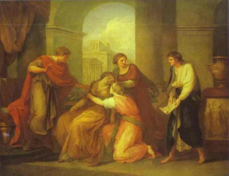 Kauffmann Angelica Virgil Reading Aeneid to Augustus and Octavia