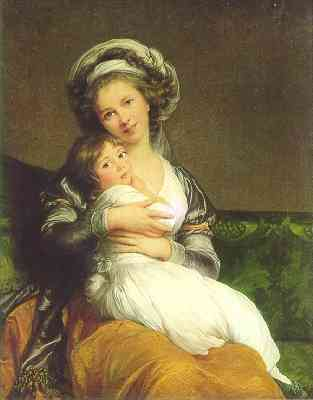 Louise Elisabeth Vigee Lebrun Self Portrait with Daughter 1