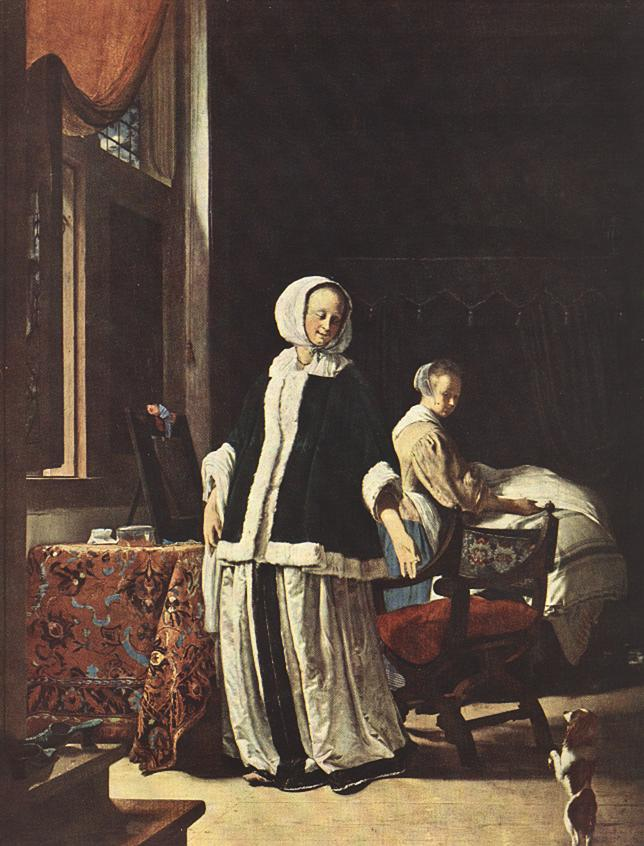 MIERIS Frans van the Elder Young Woman in the Morning