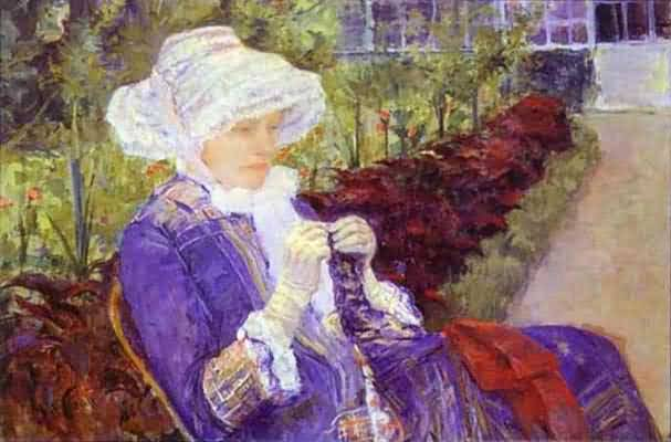 Mary Cassatt Lydia Crocheting in the Garden at Marly