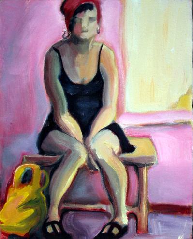Mary Woronov waiting