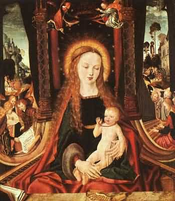 Master of the Aix en Chapel Altarpiece Madonna And Child