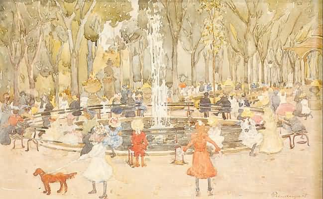 Maurice Prendergast In Central Park New York