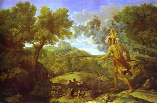 Nicolas Poussin Landscape with the Blind Orion Looking for Sun