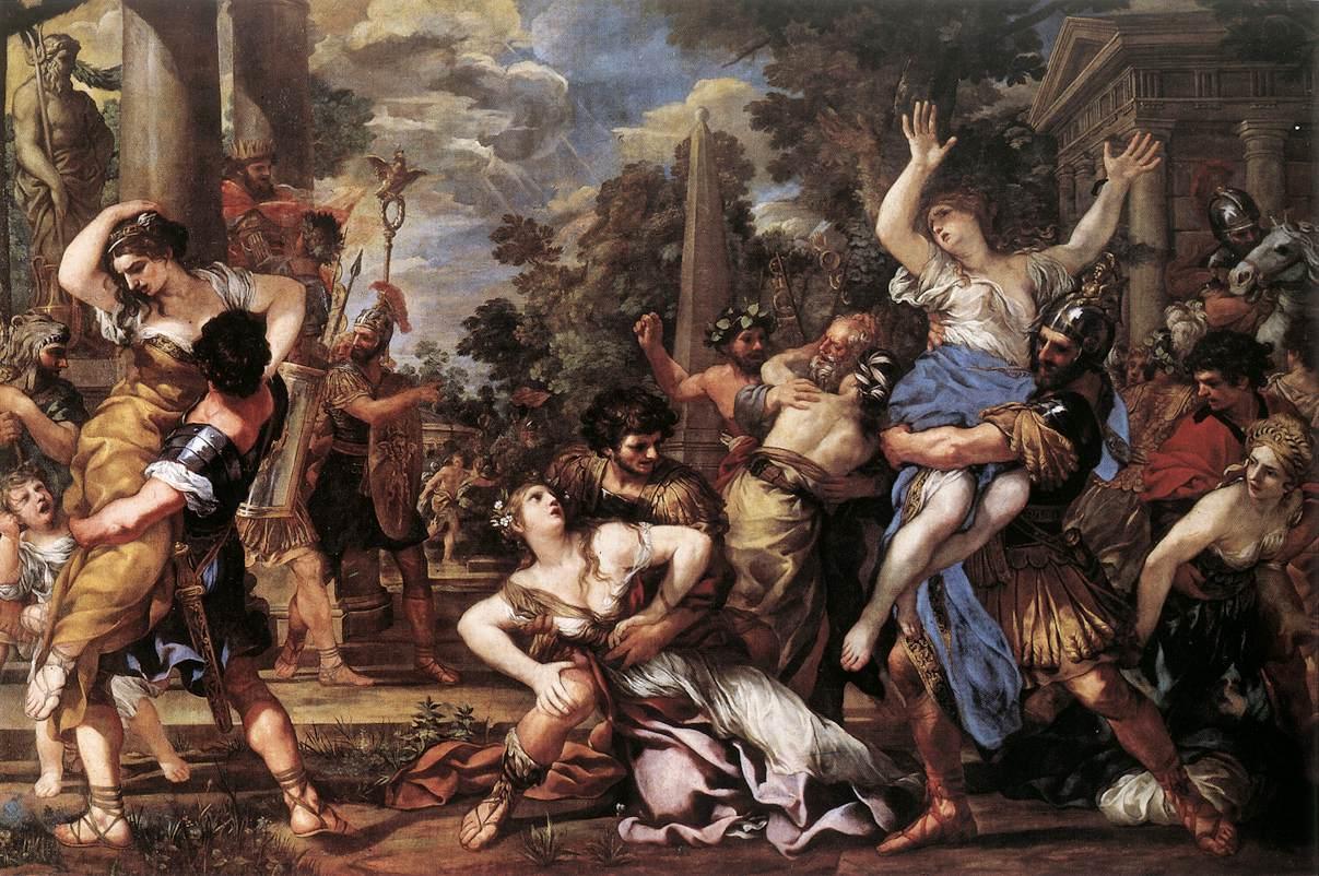 PIETRO DA CORTONA The Rape of the Sabine Women