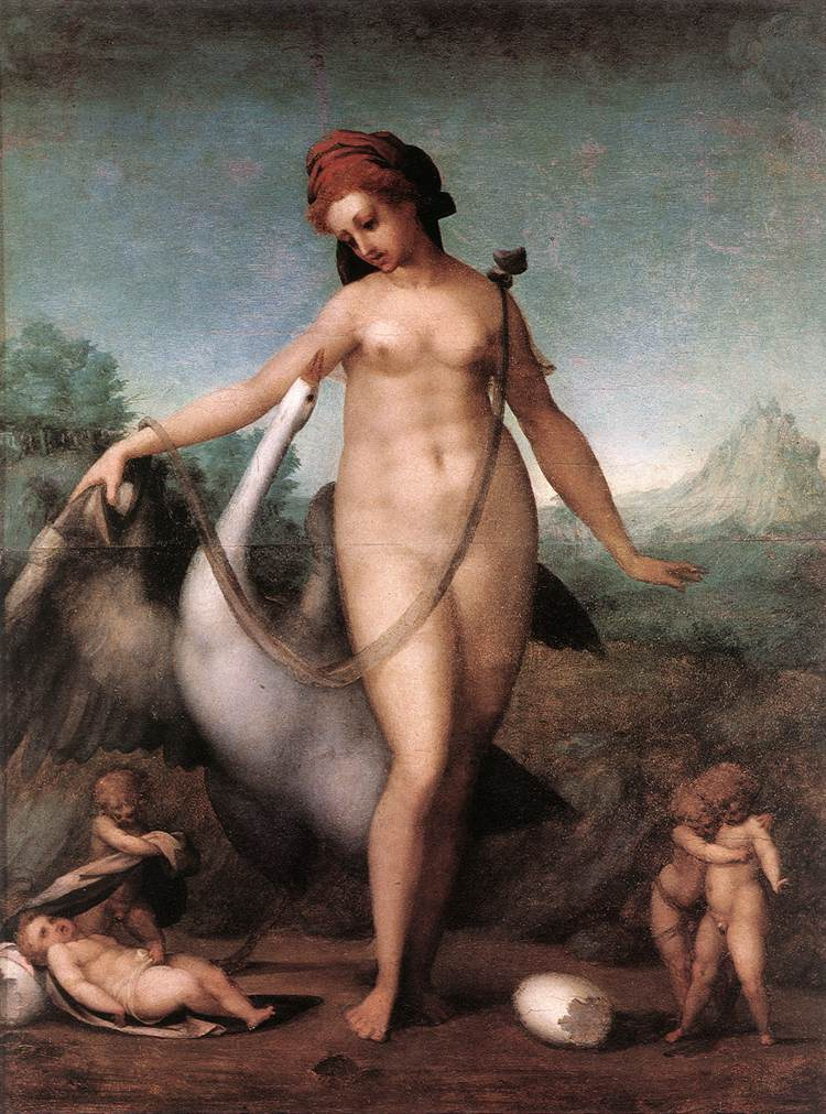 PONTORMO Jacopo Leda and the Swan