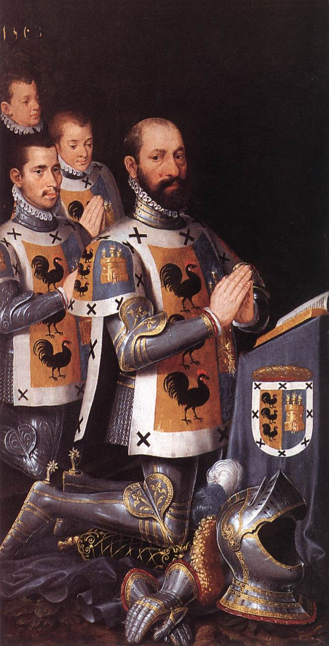 POURBUS Pieter Portrait of Jan Lopez Gallo and His Three Sons