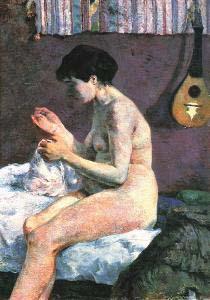 Paul Gauguin Nude Study