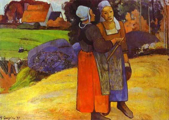 Paul Gauguin Two Breton Women on the Road