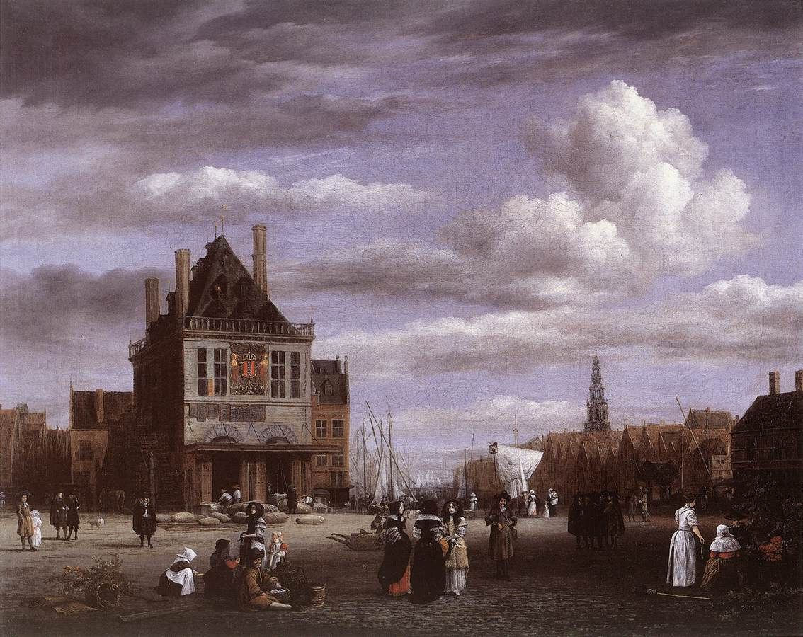 RUISDAEL Jacob Isaackszon van The Dam Square in Amsterdam