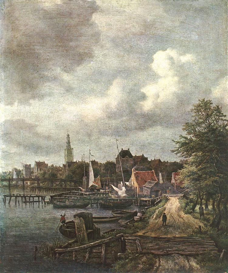 RUISDAEL Jacob Isaackszon van View of Amsterdam