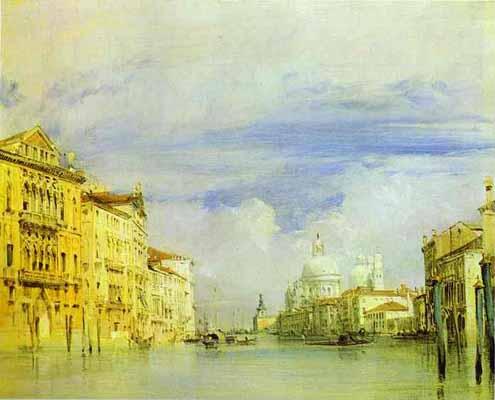 Richard Parkes Bonington Venice. The Grand Canal
