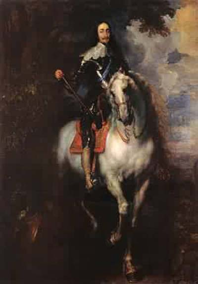 Sir Anthony van Dyck Equestrian Portrait of Charles I_ King of England