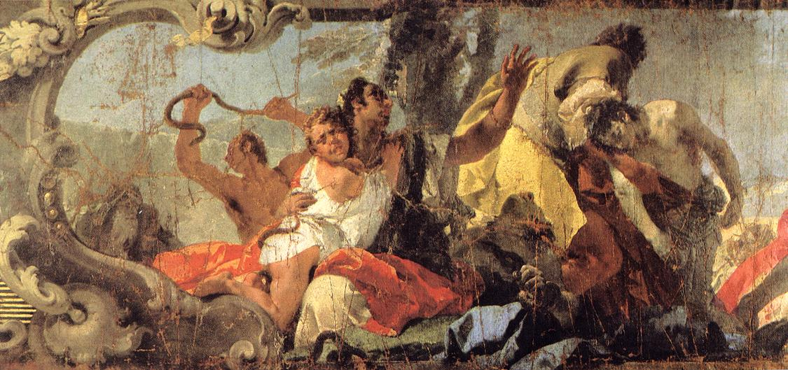 TIEPOLO Giovanni Battista The Scourge of the Serpents detail