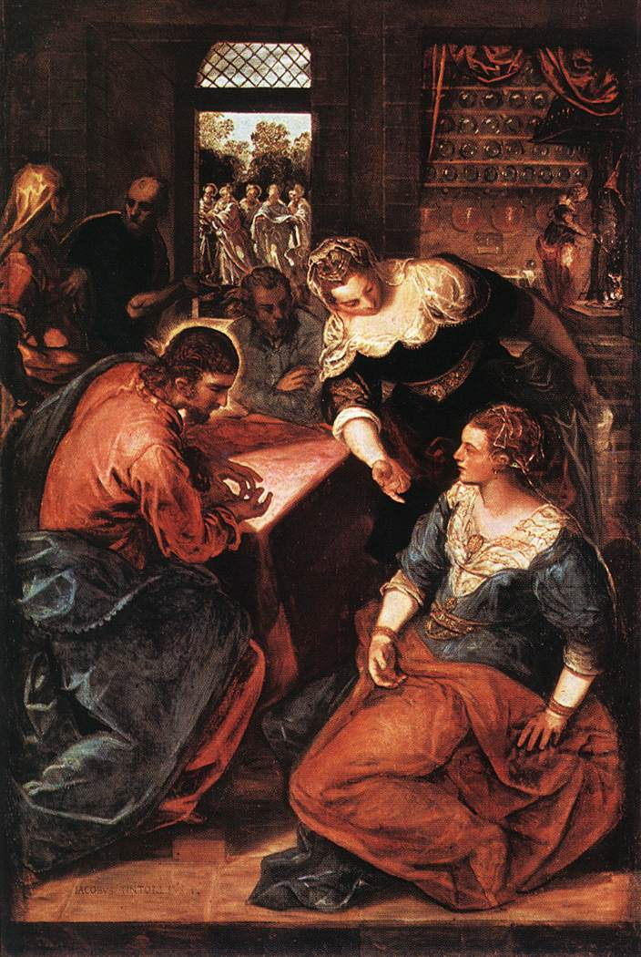 TINTORETTO Christ in the House of Martha and Mary