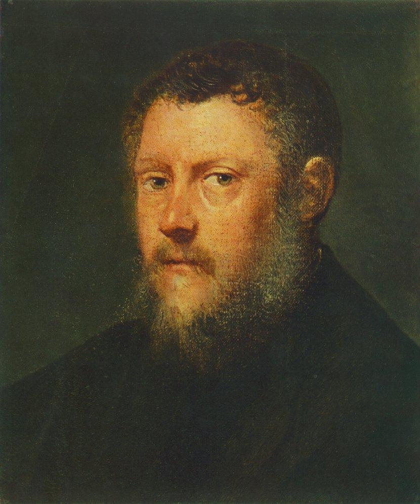 TINTORETTO Portrait of a Man fragment