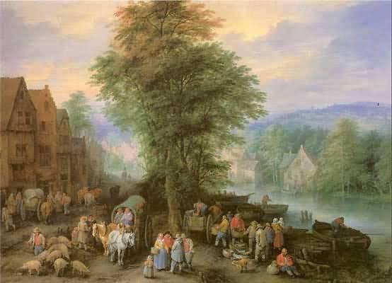 Theobald Michau Peasants at the Market