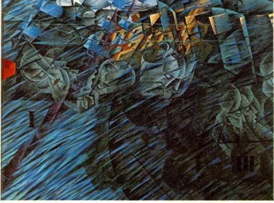 Umberto Boccioni States of Mind - Those who Go