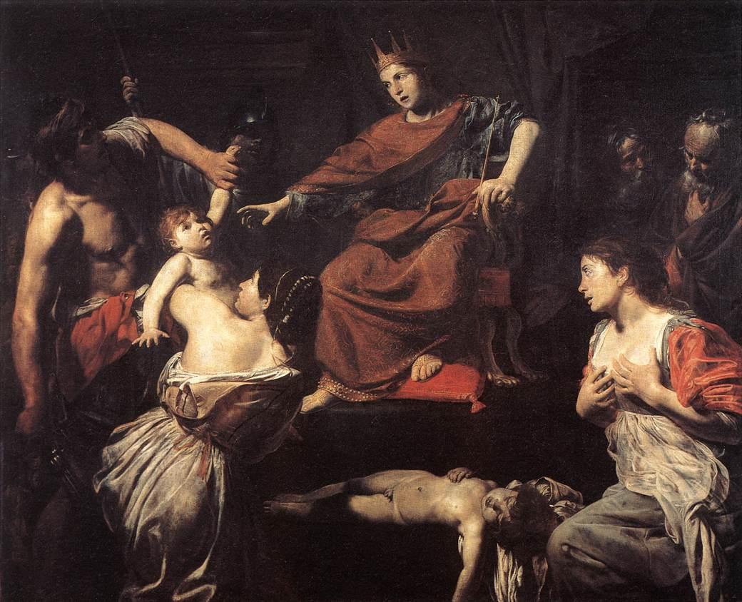VALENTIN DE BOULOGNE The Judgment of Solomon 1