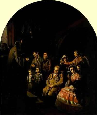 Vasily Perov Sermon in a Village