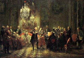 Von Menzel Adolph Das Floetenkonzert