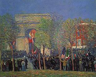 William Glackens Italo American Celebration Washington Square