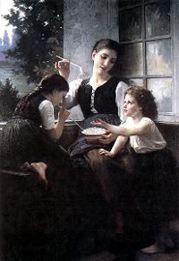 Elizabeth Gardner-Bouguereau Soap Bubbles