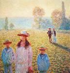 Five figures in a field 1888 - Claude Monet