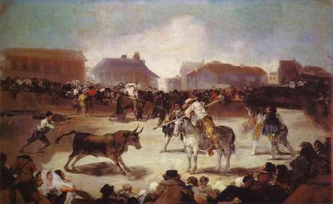Francisco de Goya y Lucientes A Village Bullfight