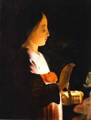 Georges de La Tour Education of the Virgin Detail