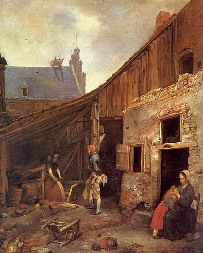 Gerard Ter Borch The Family of the Stone Grinder