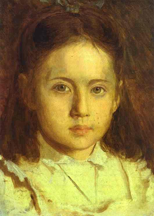 Kramskoy Ivan Portrait of Sonya Kramskaya the Artist s Daughter