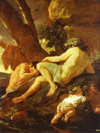 Nicolas Poussin Midas Bathing in Pactolus