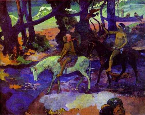 Paul Gauguin Ford Running Away