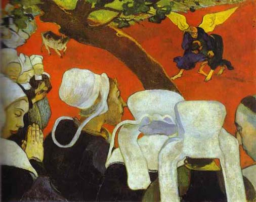 Paul Gauguin Vision After the Sermon Jacob Wrestling with the Angel