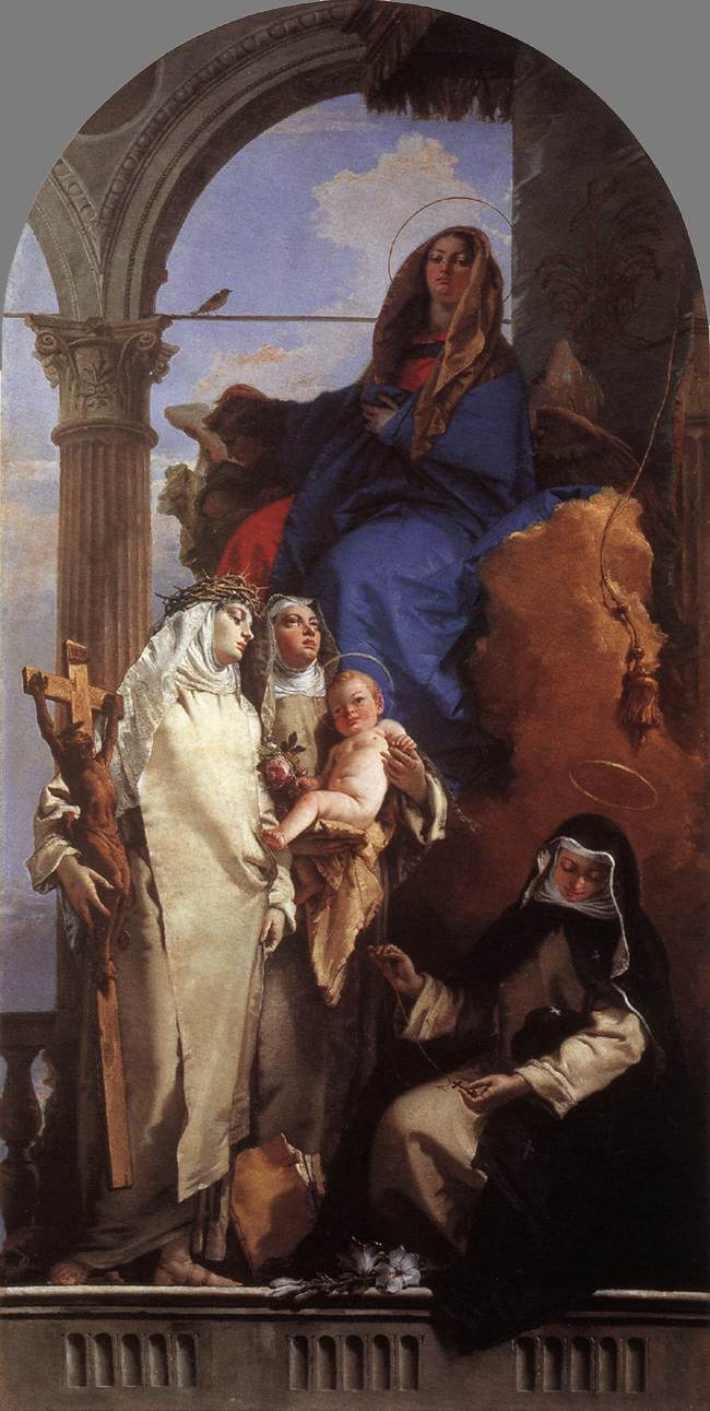 TIEPOLO Giovanni Battista The Virgin Appearing to Dominican Saints