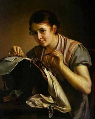 Vasily Tropinin The Lace Maker