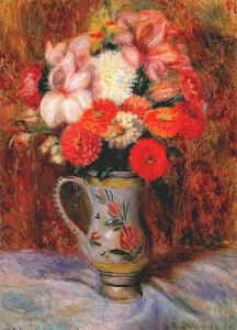 William Glackens Flowers in a Quimper Pitcher
