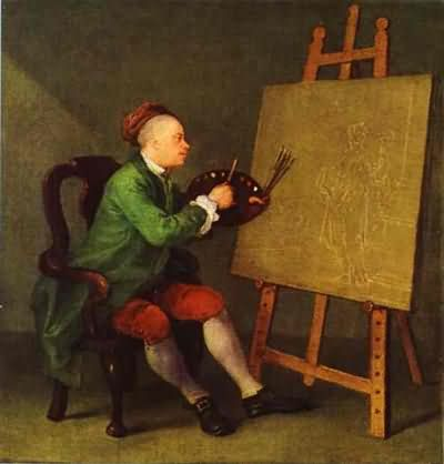 William Hogarth Hogarth Painting the Comic Muse