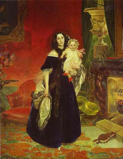 Karl Brulloff Portrait of M. A. Beck and Her Daughter M.I. Beck.
