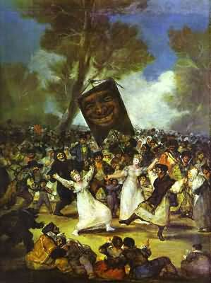 Francisco de Goya y Lucientes The Burial of the Sardine