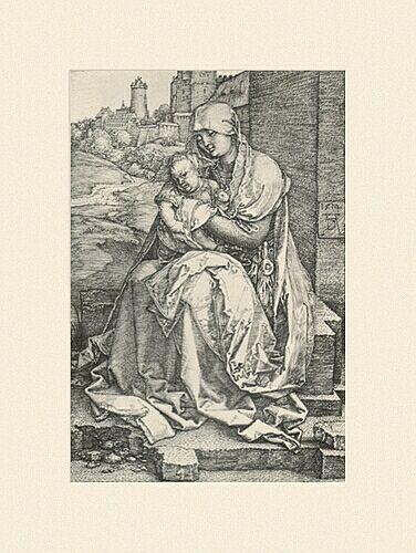 Duerer Albrecht Maria mit Kind an der mauer 1514