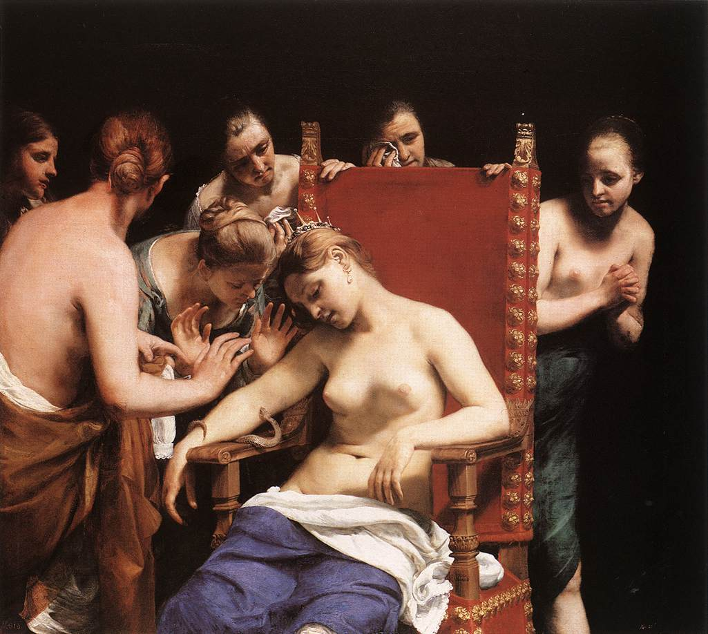 Cagnacci Guido The Death of Cleopatra 1