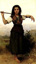 Adolphe-William Bouguereau The Shepherdess