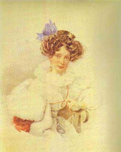 Alexander Brulloff Portrait of Catherine Bakunina