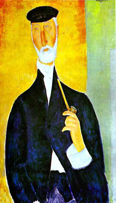 Amedeo Modigliani Man with Pipe The Notary of Nice