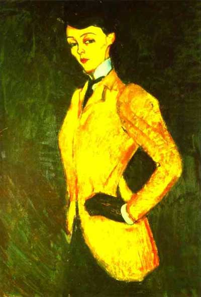 Amedeo Modigliani Woman in Yellow Jacket The Amazon