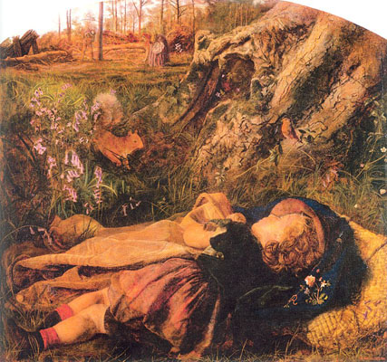 Arthur Hughes The Woodman s Child