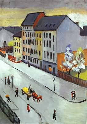August Macke Our Street in Gray